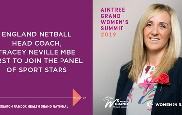 TRACEY NEVILLE MBE JOINS 2019 AINTREE GRAND WOMEN'S SUMMIT
